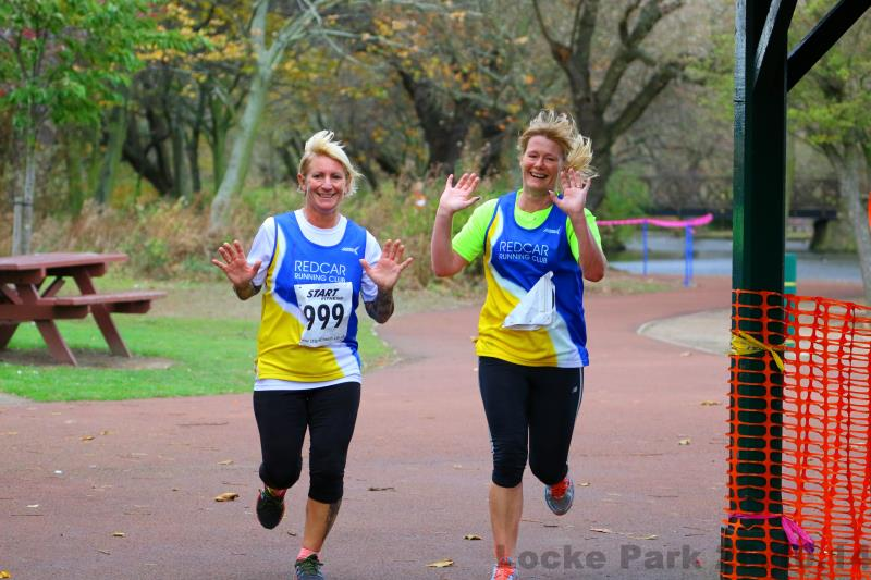 Happy faces running pic