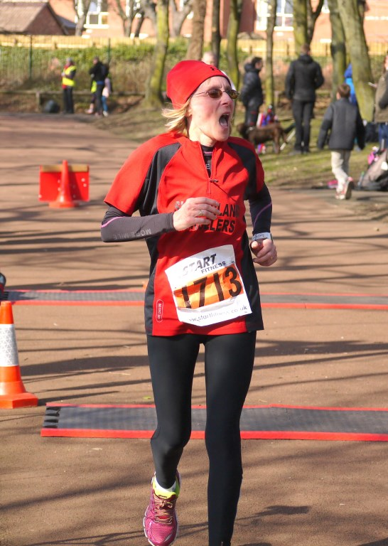 Lyne Valentine crossing the line